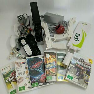 Genuine Nintendo Wii Black Console Big Bundle 6x Games WiiMote Nunchuk PAL AUS