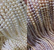 """Natural Cultured Near Round Freshwater Pearl Strings Jewelry For Necklace 15"""""""