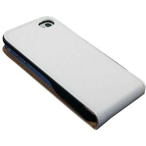 iPhone 4 Ledertasche weiß Tasche Case Hülle Case Etui Cover Schutz 4s 4g TOP w4w