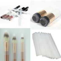 50Pcs Cosmetic Make Up Brush Pen Netting Cover Mesh Sheath Protectors Guards