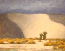 White Sands SOUTHWEST SANTA FE WEST DESERT OIL ART PAINTING LANDSCAPE ORIGINAL