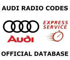 Audi Radio Code Unlock Stereo Code PIN | Concert - Symphony - Chorus