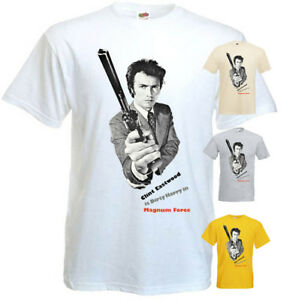 Magnum Force v4 T shirt Clint Eastwood 100% cotton white yellow all sizes S-5XL