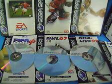 SEGA SATURN FIFA 96 /97+ NBA 97+ NHL 97 giochi