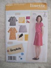 Simplicity 2211 Sew & Make LISETTE Misses Dress Top Skirt Size 14-22  UNCUT