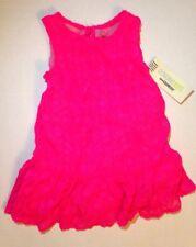 Baby Girl Oshkosh B'Gosh 18mo Pink Dress Lined W Panties Lacy Soft New