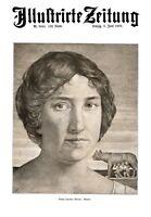 Römerin XL Kunstdruck 1909 von Gustav Schneider Weimar Romulus Remus Rom Italien