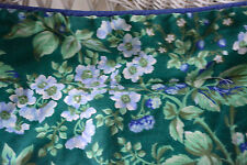 LAURA ASHLEY BRAMBLE BERRY QUILTED PILLOW SHAM thick Standard Blue Green EUC L10