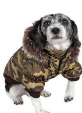NEW Pet Life Extra Large DOG PARKA Classic Metallic Camouflage Zip Hood Camo XL
