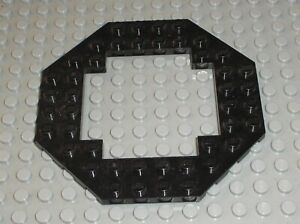 LEGO plaque plate 10X10 Octagonal Black ref 6063 / set 6975 2161 6180 6455