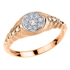 Rose Gold Watchband Design CZ Studded Unisex Ring