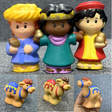 5PCS Fisher Price Little People Wise Men Christmas Nativity & Camel Manager Toys