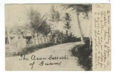 1909  Shanghai China US Postal Agency GUAM PPC Asan Barracks to Oakland CA