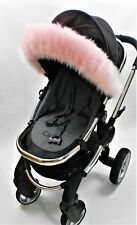 Fur Hood fur trim for pram Icandy, Bugaboo, silver cross Stokke, Universal fit