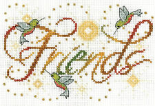Cross Stitch Kit ~ Design Works Colorful Inspirational Friends Sign #DW2876