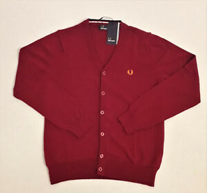 Fred Perry Cardigan Bordeaux Rot M
