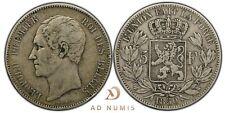 5 francs 1850 Léopold Premier Belgique - Argent