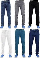 Mens Denim Jeans Zip Fly Stretch Slim Fit Cotton Trousers Pants All Waist Sizes