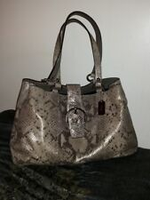 COACH PYTHON EMBOSSED CARRYALL TOTE - MINT