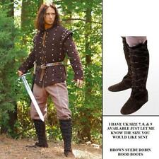 Robin of Locksley Brown Leather Boots Great For Costume Re-enactment Stage LARP