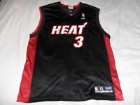402a8fffedc DWAYNE WADE Miami Heat 3 Jersey NBA Reebok Adult X-Large XL Black Used