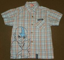 Boys NICKELODEON Plaid Dress Button Up SHIRT AVATAR The Last Airbender Size 5
