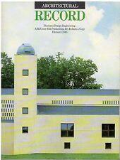 rivista - THE ARCHITECTURAL RECORD ANNO 1985 FEBBRAIO