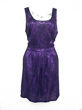MOTEL ROCKS of TOP SHOP purple black lace overlay gothic or club mini dress L