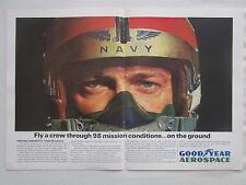 1/1964 PUB GOODYEAR US NAVY A-6A INTRUDER PILOT HELMET SIMULATOR SYSTEM AD