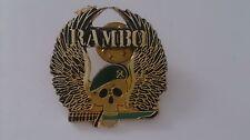Rambo Sylvester Stallone skull wings metal Pin badge vintage