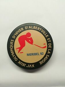 Original Olympic 1992 Meribel - Albertville hockey puck.