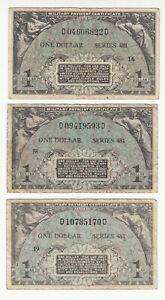 USA MPC 3x1 dollar 1951 circ. pM26 @ low start