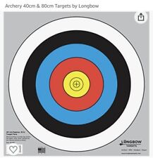 Longbow Targets 40 Cm / 16 In (5 Rings) Archery Target Qty 8