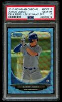 2013 Bowman Chrome Aaron Judge Rookie Blue Wave Refractor PSA 10 Gem Mint RC