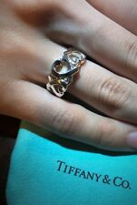 Tiffany & Co. Sterling Silver 925 Paloma Picasso Triple Loving Heart Ring