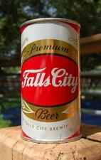 STUNNING TOUGH VERSION FALLS CITY FLAT TOP BEER CAN! B/O'ed W/KILLER VANITY TOP!