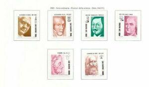 s32267) SAN MARINO 1983 MNH**  Scientists 6v