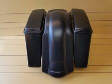 """HARLEY DAVIDSON 4""""STRETCHED SADDLEBAGS NO CUT OUTS,LIDS AND REAR FENDER INCLUDED"""