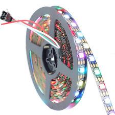 50M WS2812B 60LED 5050 RGB Non--Waterproof Dream Color LED Strip Light Black 5V