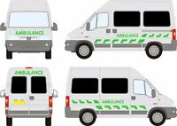 Ambulance Chevron decals stickers graphics Emergency First Aid event support SWB