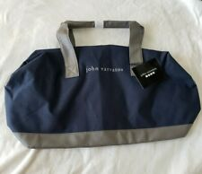 John Varvatos Blue Gray Weekender Duffle Bag Overnight Fitness Travel Business