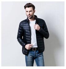 US Men's Packable Down Jacket Ultralight Stand Collar Coat Winter Hoodie Puffer