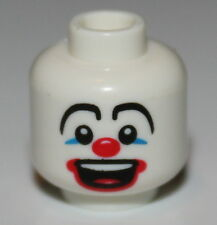 LeGo White Head Blue Eye Make-up Big Red Nose and Large Red Mouth Pattern Clown