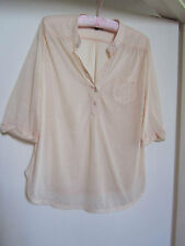 Loose Fit Light Orange See Through TopShop Blouse / Top in Size 8