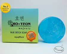 Ho Yeon Facial Herbal Blue Detox Soap Whitening ClearSpot SkinClean Reduce Acne.