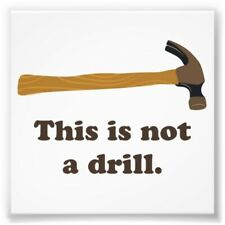 This is not a drill. Hammer tool box machine engine device appliance job magnet