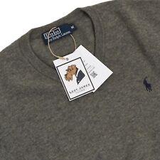 POLO RALPH LAUREN Pullover Sweater Gr M 100% Merinowolle Hellgrau Lambswool Grey
