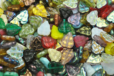 50 MIXED ASSORTED CZECH GLASS LEAF BEADS 10MM