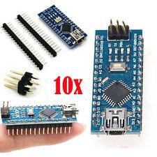 10Pcs MINI USB Nano V3.0 ATmega328P CH340G 5V 16M Micro-controller board Arduino