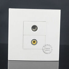 Wall Face Plate Yellow Audio AV Video Plate & TV Outlet Socket Assorted Panel